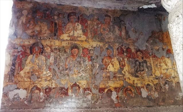Buddha paintings of Ajanta Cave 19