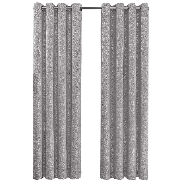 GoodGram 2 Pack Sparkle Chic Thermal Blackout Curtain Panels