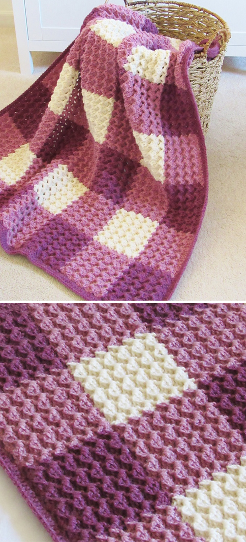 Crystal Waves Blanket - Free Crochet Pattern