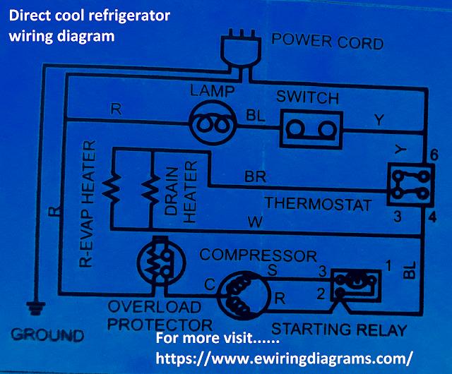 direct cool refrigerator wiring diagram