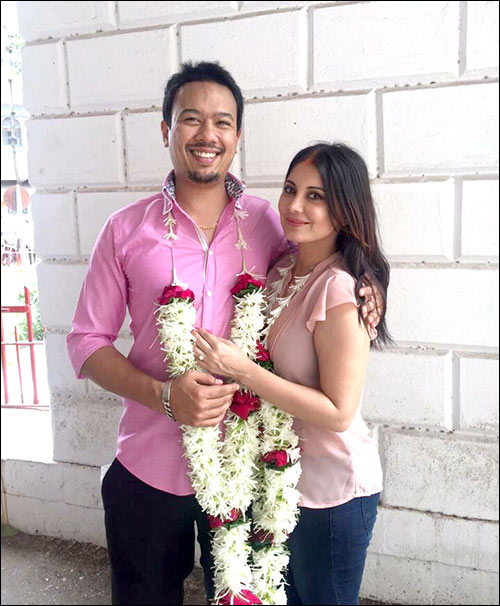Ryan With Minissha After Their Wedding In Court