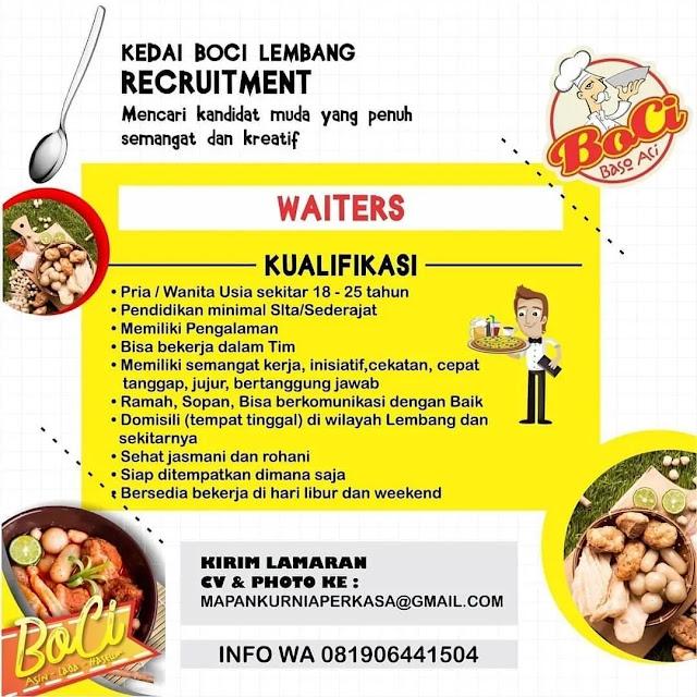 Info Loker Kedai Boci Lembang