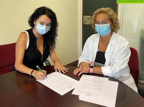 Firma del convenio para reanudar la actividad de Salud Mental La Palma en el Hospital General de La Palma