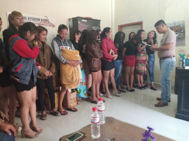 Razia Cafe Hiburan Malam, Satpol PP Taput Jaring 35 Wanita Pekerja Hiburan Malam