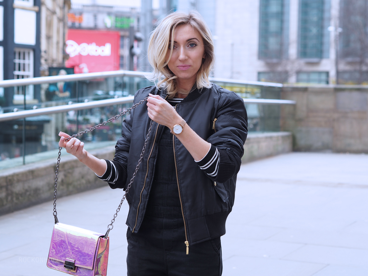 Rock and Rags Bomber Jacket - Rock On Holly Blog