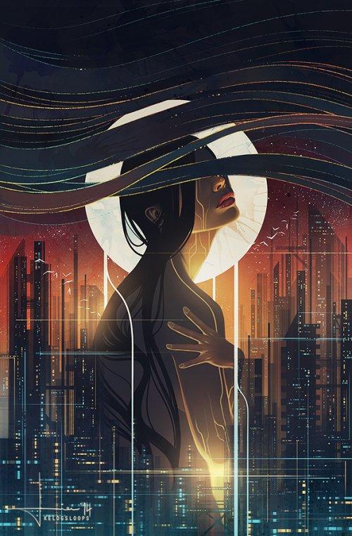 Hieu kelogsloops deviantart arte ilustrações digitais fantasia surreal mulheres