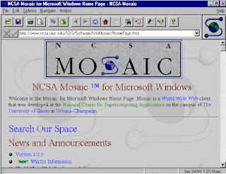 Tampilan browser pertama
