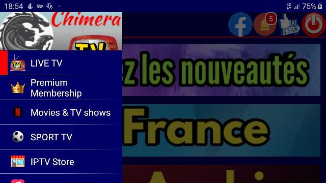 تطبيق chimera.live.tv.apk لمشاهدة قنوات العالم المشفرة والمفتوحة الاصدار الاخير 2020
