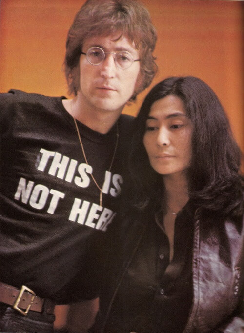 This Is Not Here John Lennon t-shirt. PYGear.com