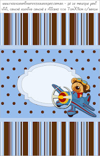Pilot Bear: Free Printable Candy Buffet Labels.