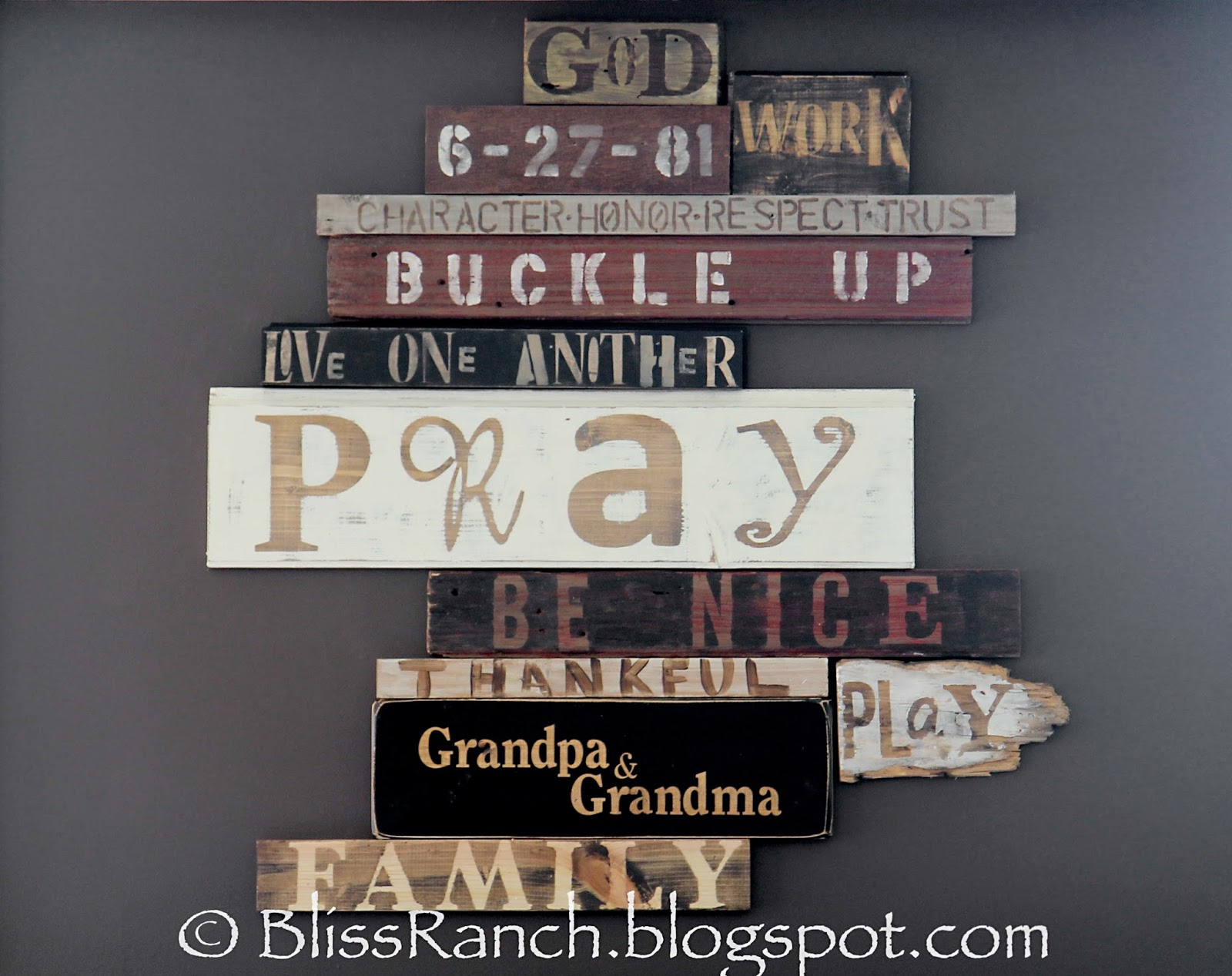 Wood Scrap Wall Art Bliss-Ranch.com