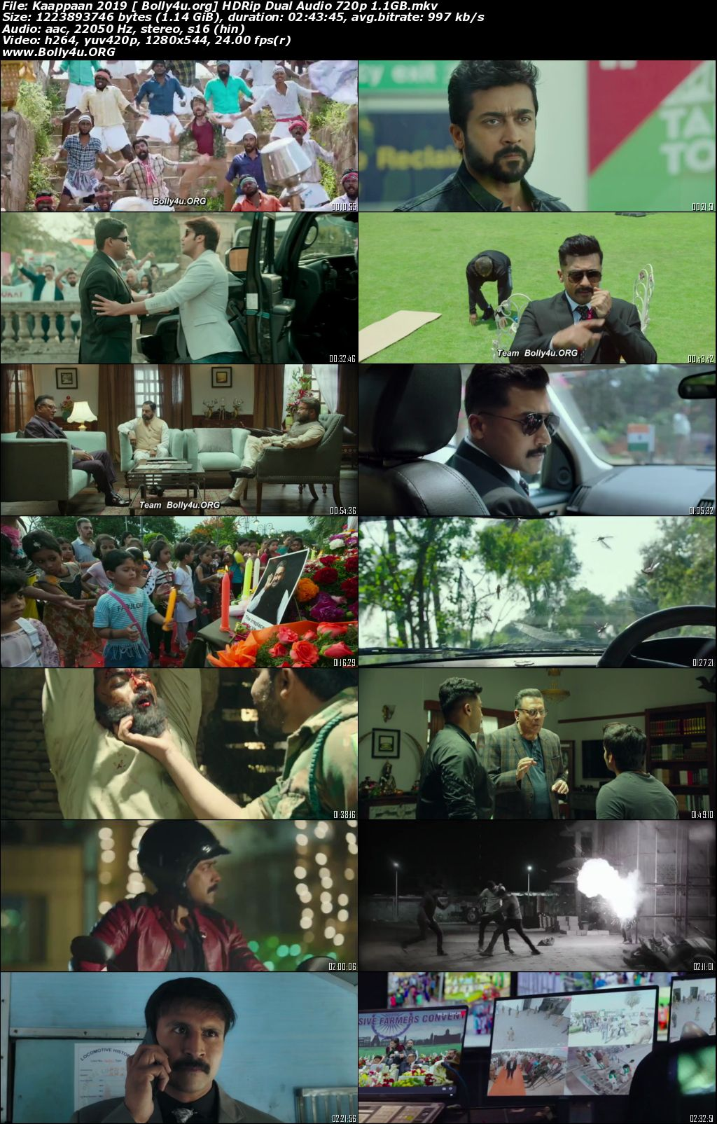 Kaappaan 2019 HDRip 1.1GB UNCUT Hindi Dual Audio 720p Download