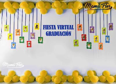 Decoración de Fiesta Virtual de Graduación
