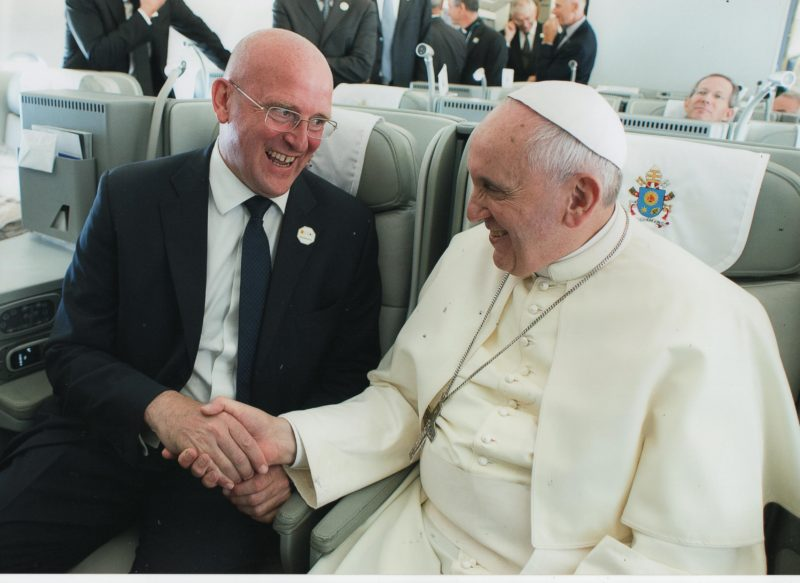 El Papa Francisco, y Domenico Giani
