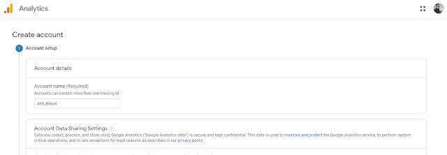 Account Setup Google Analytics