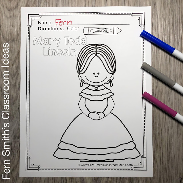 Presidents Day Coloring Pages With George Washington and Abraham Lincoln #FernSmithsClassroomIdeas