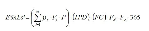 Ecuación para calcular ESAL