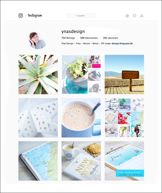 Ynas Instagram Account