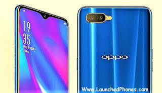 is launched every bit the latest Oppo mobile outcry Oppo K1 launched amongst the Blue as well as Red Colors