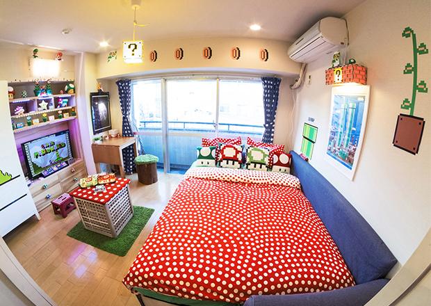 quarto do mario, decoração geek, decoração inspirada em games