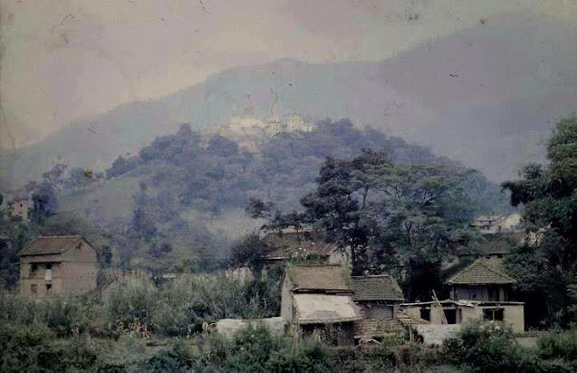 Old image of Swayambhunath during 1950s