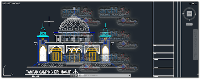 North façade masjid FIX belawan mosque dwg