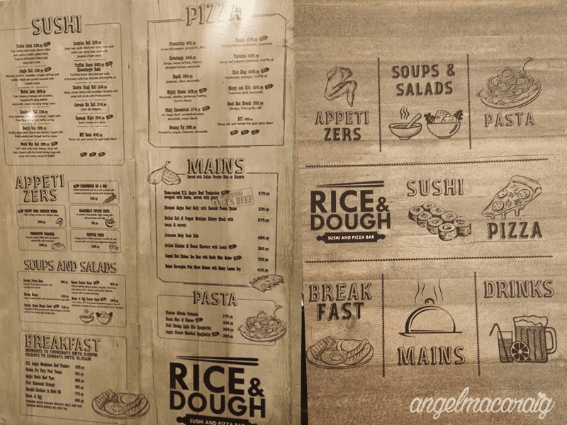 Rice & Dough's Menu