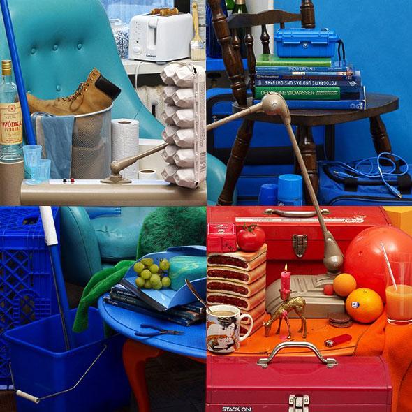 4 farklı resim mi tek resim mi, karışık dağınık masa üstü