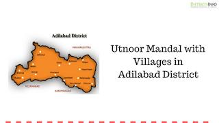 Utnoor Mandal with Villages in Adilabad District