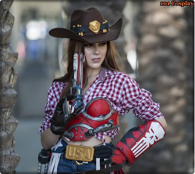 American McCree cosplay from VirtualBrunette