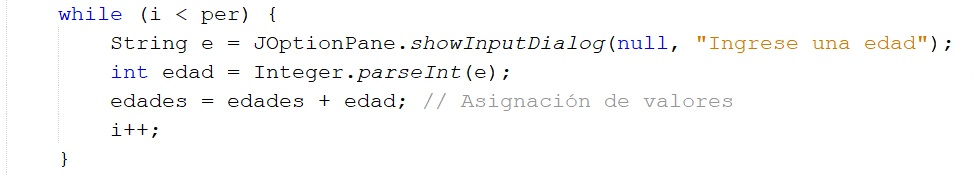 Variables acumuladoras en Java