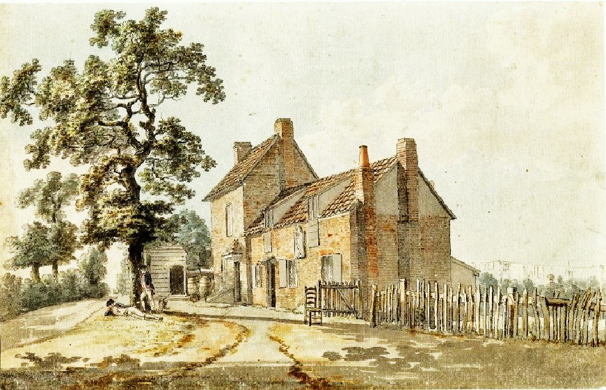 1770s Everyday British Inns Taverns Public Houses Which Often Had Small Outdoor Garden Areas