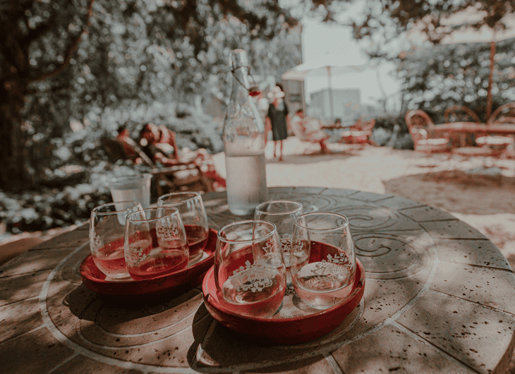Wine Flight at Croteaux Vineyards, Long Island