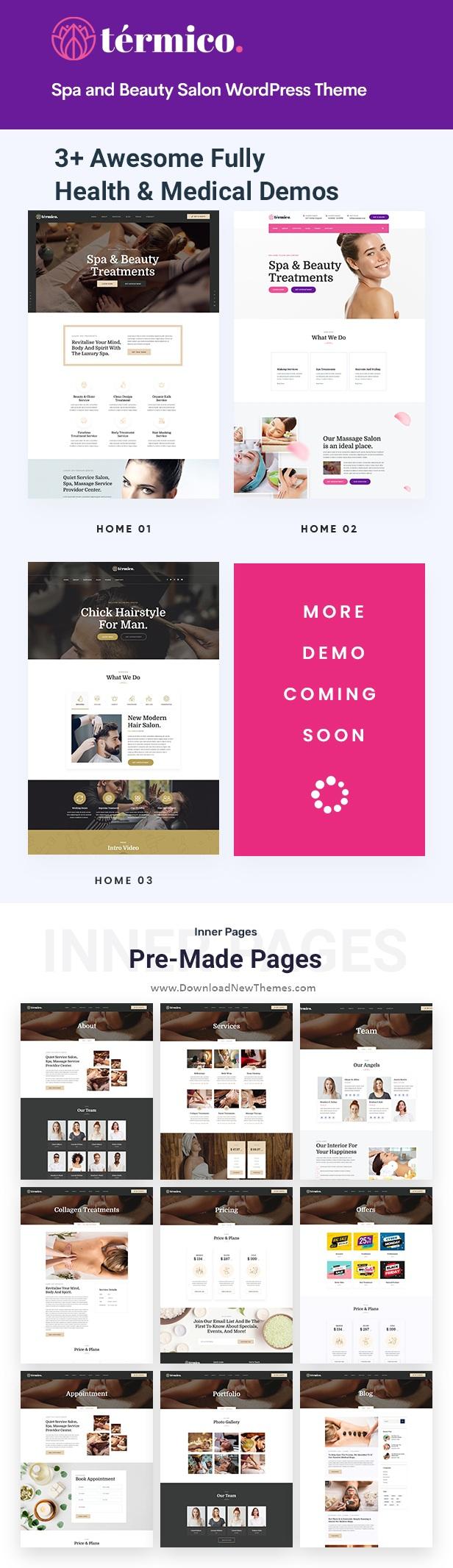 Spa and Beauty Salon WordPress Theme