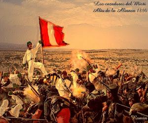 ⚔ Los Cazadores del Misti en la batalla de Tacna