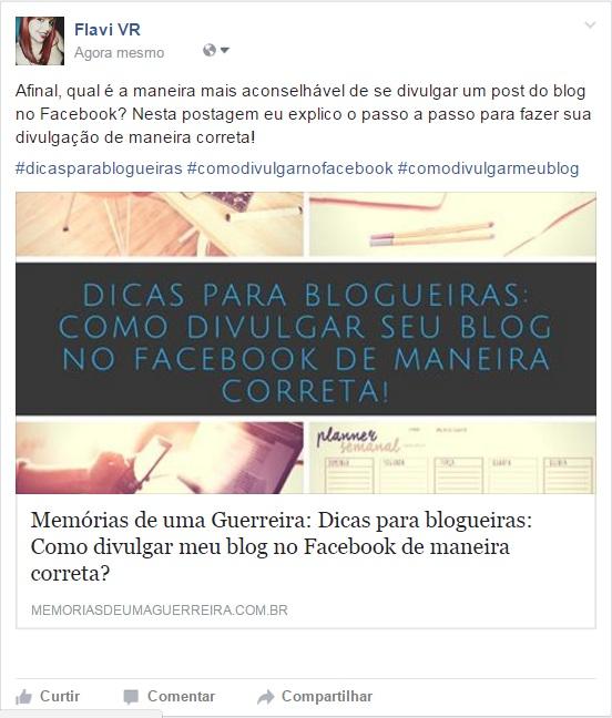 Desta maneira você divulga seu blog de maneira certa no facebook