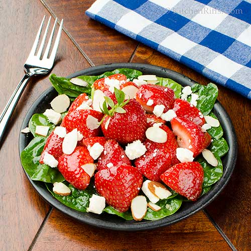 Strawberry, Spinach, and Feta Salad