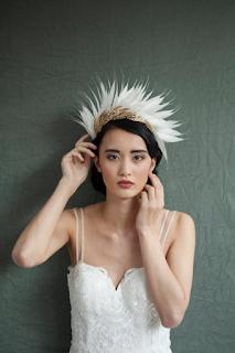 diademe de mariee en plumes agnes hart