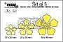 Set van 3 bloemen-stansen. Set of 3 flower-dies.