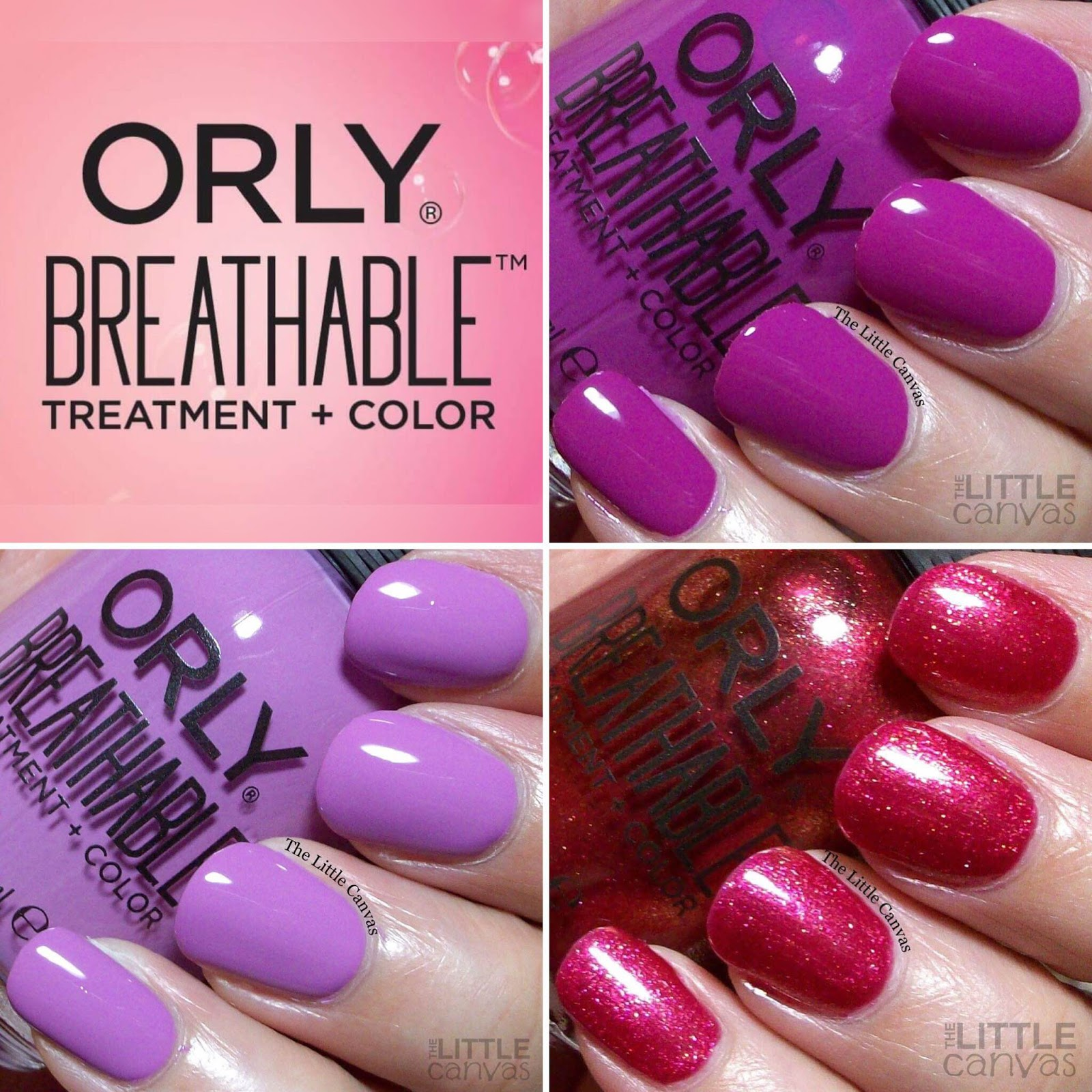 ORLY Breathable Treatment + Color Swatch and Review - The Little Canvas