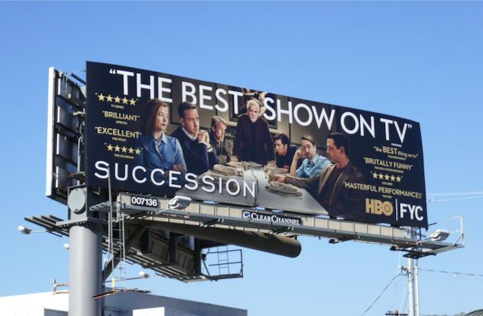 Succession season 2 HBO FYC billboard