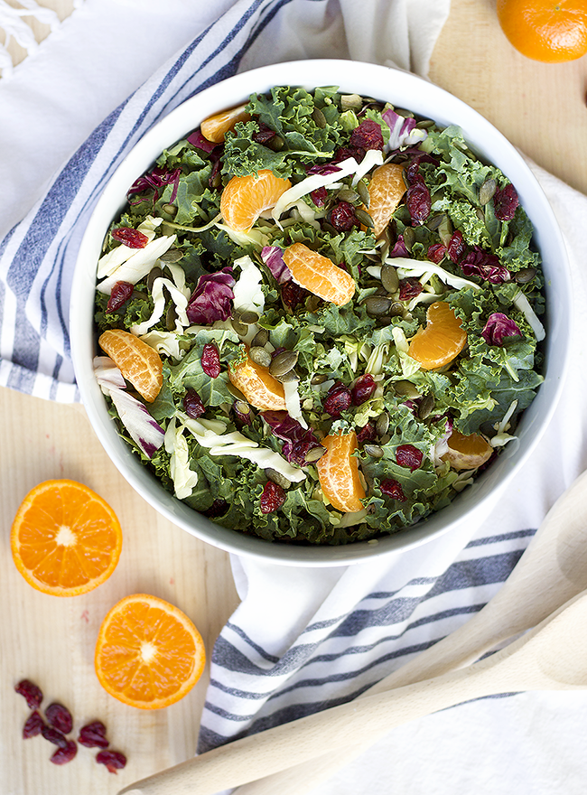 Holiday Kale, Cranberry, and Orange Salad