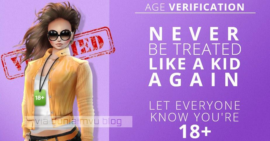 Jual Age Verification Imvu Dunia Imvu