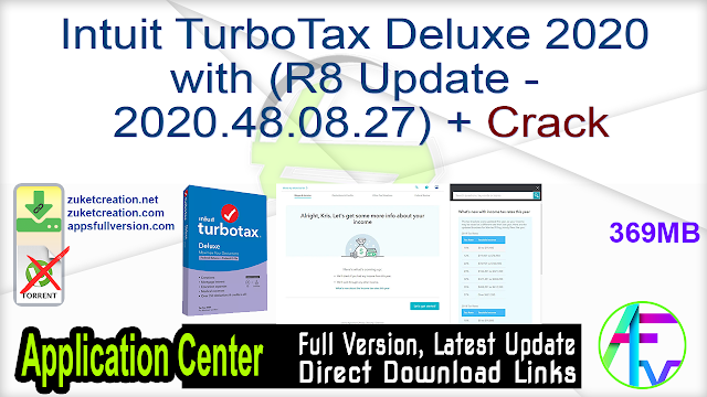 Intuit TurboTax Deluxe 2020 with (R8 Update – 2020.48.08.27) + Crack