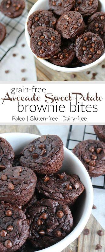 Sweet Potâto Âvocâdo Brownie Bites