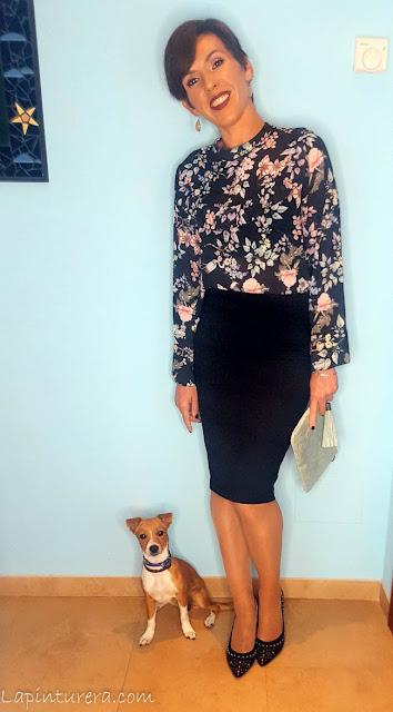 outfit blusa de flores