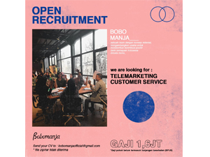 Lowongan Kerja Bulan Mei 2019 di Bobomanja - Solo (Telemarketing, Customer Service)