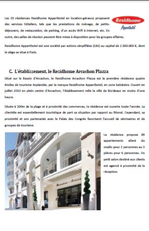 rapport de stage hotellerie restauration