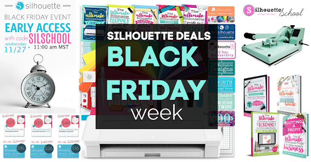 silhouette 101, silhouette america blog, black friday, black friday deals, silhouette deals