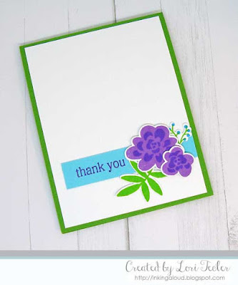 Bold Bunch Thank You card-designed by Lori Tecler/Inking Aloud-stamps and dies from Altenew
